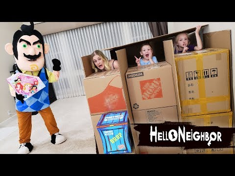 Hello Neighbor in Real Life Toy Scavenger Hunt!! Disney Princess Gem Collection Toys! - UCCryrohClZM8XK4yEYBE_qA