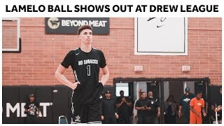 LaMelo Ball Puts Up 19 points, 15 rebounds, 5 assists at the Drew League - Full Highlights