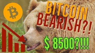 Bitcoin bearish?!! $8500 dollar bitcoin incoming??