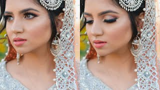 TRADITIONAL INDIAN/PAKISTANI valima/ reception BRIDAL MAKEUP TUTORIAL & OUTFIT +GIVEAWAY