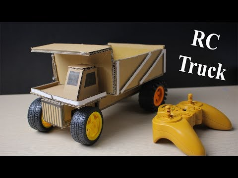 How to make a Rc Truck at home - Car Remote Control using Cardboard (Electric Truck) - UCR3xusmlQ7Ljz8R7AB0umZw