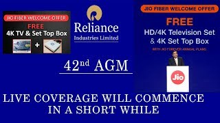 Free 4K TV And Jio Gigafiber Set Top Box ! Mukesh Ambani 2019 Speech ! Reliance Jio AGM LIVE !