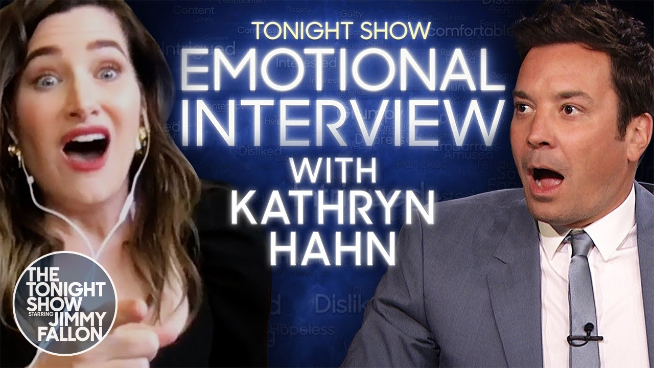 Emotional Interview with Kathryn Hahn | The Tonight Show Starring Jimmy Fallon