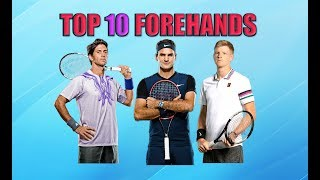Top 10 Forehands in Men's Tennis
