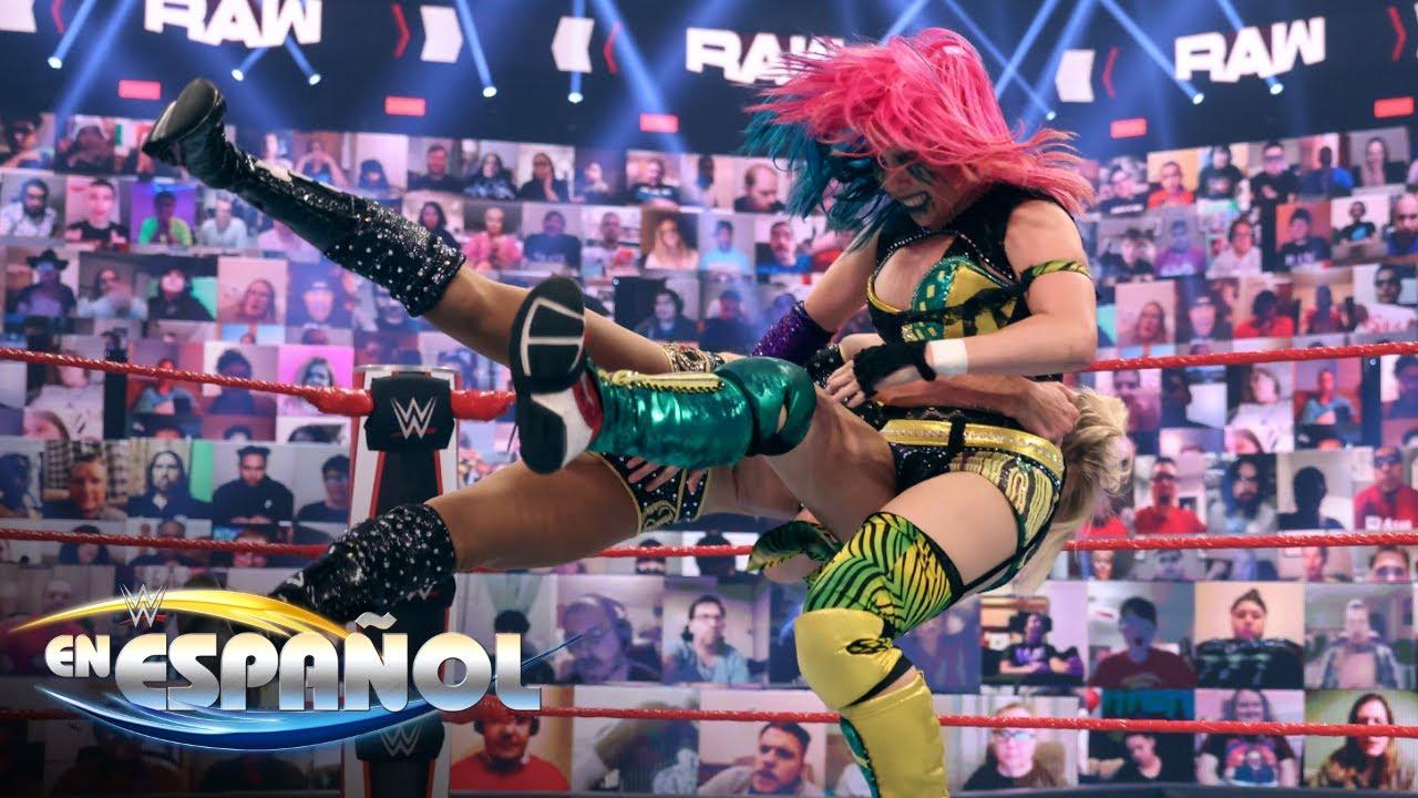 ¡La Reina Charlotte Flair se enfrenta a la Emperatriz del Mañana Asuka!: En Espanol, 24 Abril, 2021