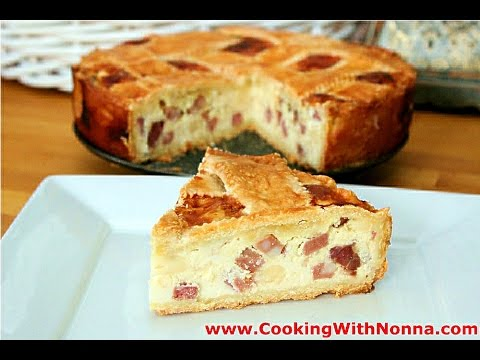 Nonna's Pizza Rustica  - Pizzagaina - Rossella's Cooking with Nonna - UCUNbyK9nkRe0hF-ShtRbEGw