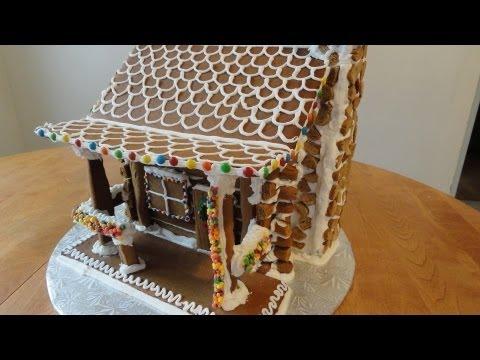 Gingerbread Log Cabin Part 1 - yoyomax12