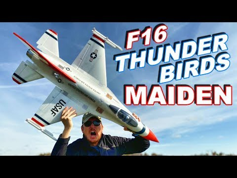 FAST Electric Giant Warbird RC JET Maiden F-16 Thunderbirds 70mm EDF - TheRcSaylors - UCYWhRC3xtD_acDIZdr53huA