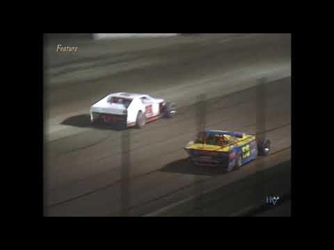 Full race from the IMCA Modified division at Hartford Speedway Park in MI August 15, 2003. William Harrison takes the feature win. - dirt track racing video image