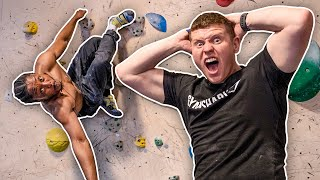 I TRIED ROCK CLIMBING WITH AyyOnline