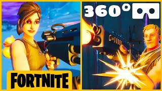 360° VR Fortnite Fail 🤣 Noob loses fight after hiding
