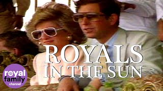 Royals in the Sun: Charles and Diana watch camel racing in Abu Dhabi!