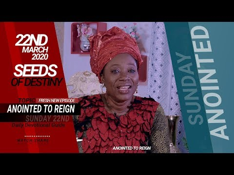 Dr Becky Paul-Enenche - SEEDS OF DESTINY  SUNDAY, 22 MARCH, 2020