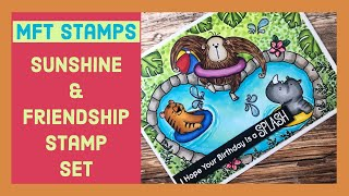 MFT Stamps | Sunshine & Friendship Card with Copic Markers