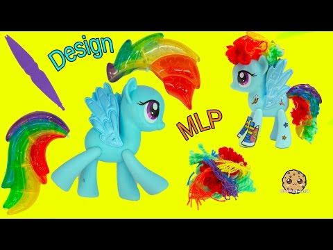 Design A My Little Pony Rainbow Dash Hair Style + MLP POP Spitfire - Toy Video - UCelMeixAOTs2OQAAi9wU8-g