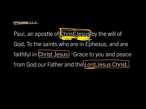 Ephesians 1:12 // Part 4 // Different and Precious Names for Jesus