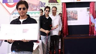Shahrukh Khan At The Inauguration Of Special Cover For Bandra Railway Station