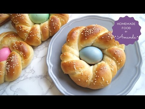 Easter bread - EASY Sweet Braided Bread with Easter Egg | Homemade Food by Amanda - UCXFJ0GkZPq5imwZ75l5TqWw