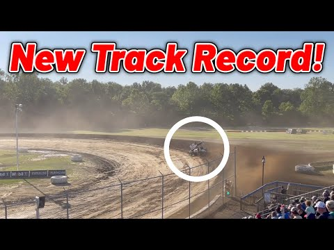 Zeb Wise NEW TRACK RECORD At Muskingum County Speedway! (410 Sprint Car) - dirt track racing video image