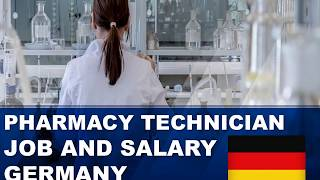 Pharmacy Technician Salary in Germany - Jobs and Wages in Germany