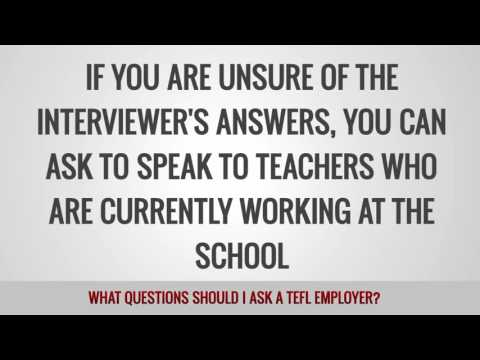 What questions should I ask a TEFL employer?