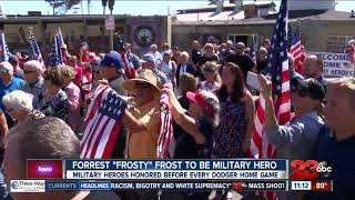 Los Angeles Dodgers to honor World War II veteran Forrest Frost during game