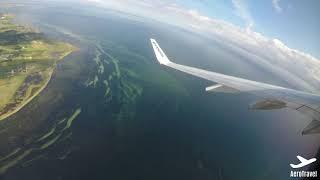 SCENIC RYANAIR/ MALTA AIR TAKE OFF from COPENHAGEN over the BALTIC SEA ULTRA HD