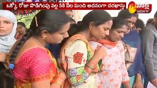 Record Breaking Applications Received For AP Grama Sachivalayam Posts | Sakshi TV