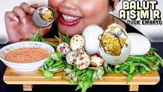 BALUT DUCK EMBRYO MUKBANG (NO TALKING) ASMR EATING SOUNDS 먹방 EXOTIC + DELICACY FOOD