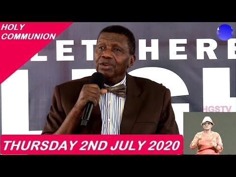 PASTOR E.A ADEBOYE SERMON - RCCG JULY 2020 HOLY COMMUNION