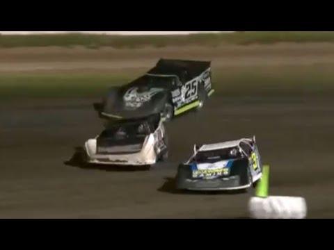 Door-To-Door Finish at Davenport Speedway | MARS Super Late Model Feature - dirt track racing video image