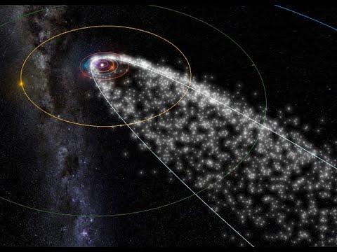 Breaking Halleys Comet Debris Approaching Earth