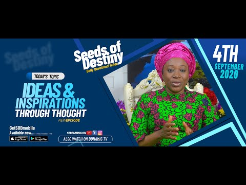 Dr Becky Paul-Enenche - SEEDS OF DESTINY - FRIDAY SEPTEMBER 4, 2020