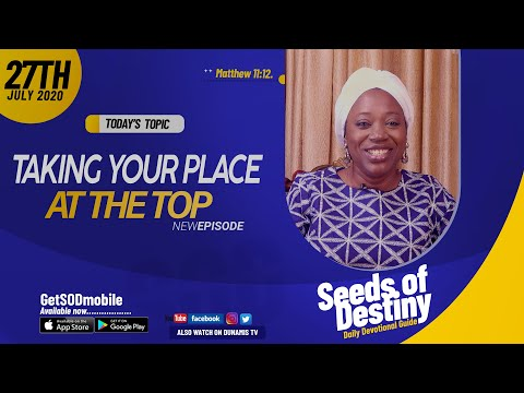 Dr Becky Paul-Enenche - SEEDS OF DESTINY - MONDAY JULY 27, 2020