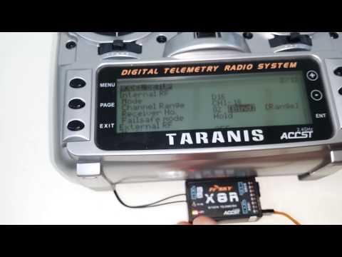FrSky Taranis and X8R Receiver SBUS Setup w/ NAZA Flight