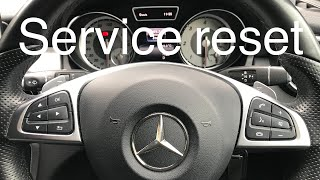 Reset service Mercedes GLA