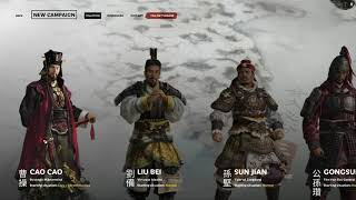 Total War Three Kingdoms Start Choose Your Warlord General