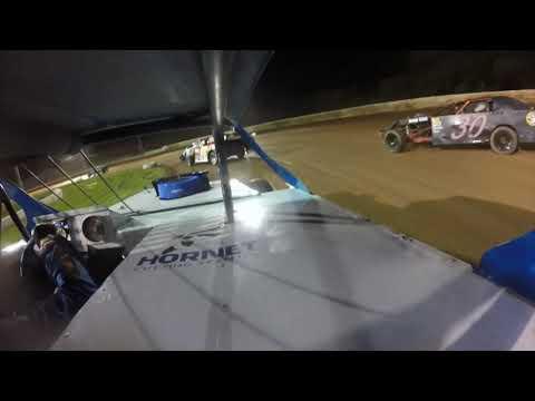 Red Dirt Raceway Sport Mod/B-Mod Heat Race #2 10/16/2021 Kyle Wiens #18 GoPro - dirt track racing video image