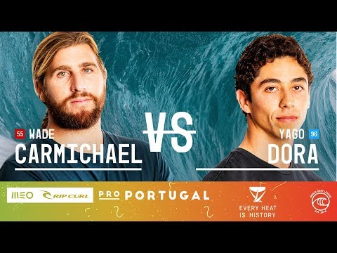 Yago Dora vs. Wade Carmichael - Round of 32, Heat 6 - MEO Rip Curl Pro Portugal 2019