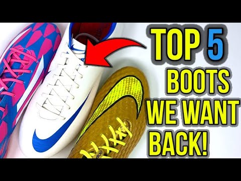 TOP 5 FOOTBALL BOOTS EVERYBODY WANTS BACK! - UCUU3lMXc6iDrQw4eZen8COQ