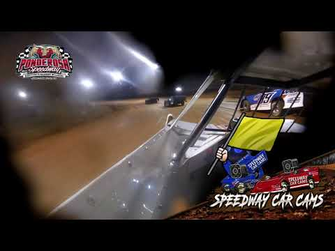 #7 Brian Smith - Crate Late Model - 8-6-21 Ponderosa Speedway - In-Car Camera - dirt track racing video image