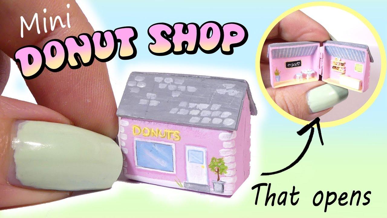 Mini Donut Shop Tutorial // DIY Doll / Dollhouse