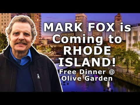 MARK FOX is COMING to RHODE ISLAND  - Dec. 15, 2018! - YOU ARE INVITED!