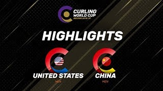 HIGHLIGHTS: United States v China - Men - Curling World Cup Grand Final - Beijing, China