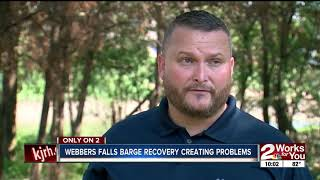 Webbers Falls barge recovery creating problems