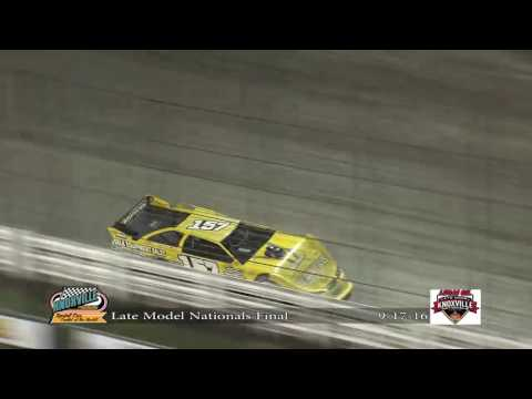 Lucas Oil Late Model Knoxville Nationals Night #3 9-17-2016 - dirt track racing video image
