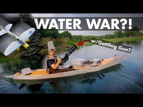 Water War?! Foamboard Boat+Gatling Gun VS Dive-bombers 🚢😲 - UC9zTuyWffK9ckEz1216noAw