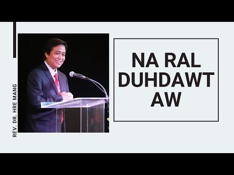 REV. DR. HRE MANG  NA RAL DUHDAW AW 2019