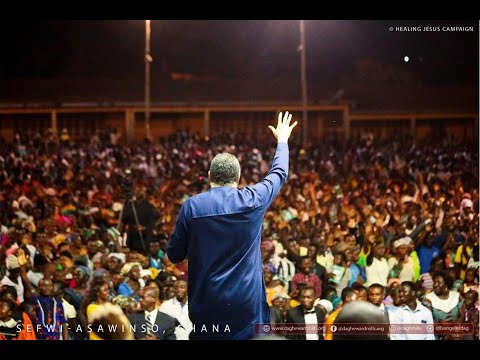 WATCH THE HEALING JESUS CAMPAIGN, LIVE FROM SEFWI ASAWINSO, GHANA. DAY 1.