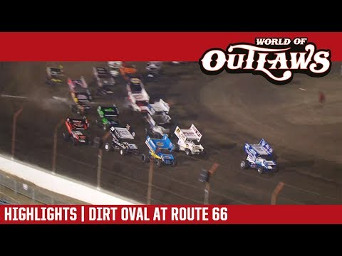 World of Outlaws Craftsman Sprint Cars Dirt Oval at Route 66 June 27, 2017 | HIGHLIGHTS - dirt track racing video image